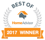 HomeAdvisor Best Of 2017 Winner home inspection