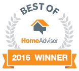 HomeAdvisor Best Of 2016 Winner