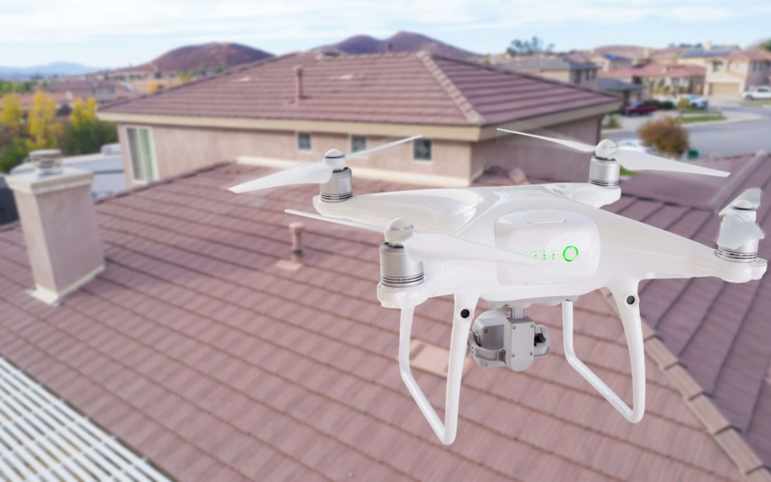 drones in home inspections assess the condition of the roofing